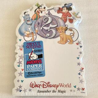 ディズニー(Disney)のディズニーワールド 25周年記念 ノートパッド[未開封](ノベルティグッズ)