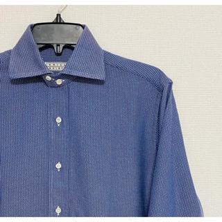 フィナモレ(FINAMORE)のオリアン ORIAN ダブルカフスシャツ BLUE系 size15(シャツ)