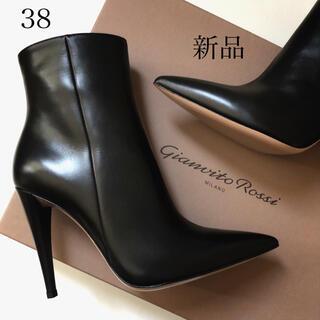 ジャンヴィットロッシ(Gianvito Rossi)の国内正規品137,500円 ジャンヴィット ロッシ ブーツ ブラック 新品/38(ブーツ)