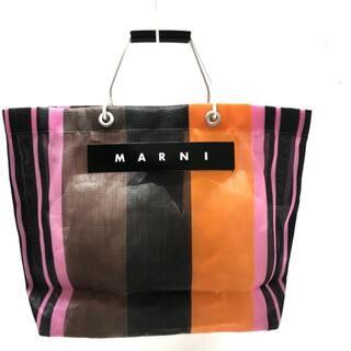 Marni - MARNI(マルニ) トートバッグ - 黒×マルチ