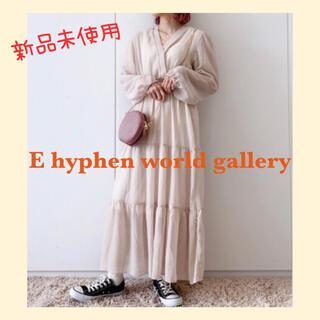 イーハイフンワールドギャラリー(E hyphen world gallery)の春先どり E hyphen world gallery ロングワンピース(ロングワンピース/マキシワンピース)