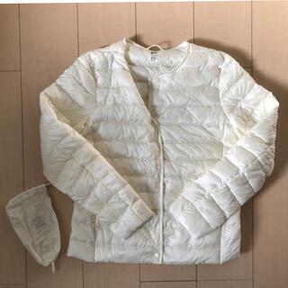 UNIQLO - ユニクロ 女性L ウルトラライトダウン インナーダウンジャケット Vネック 美品