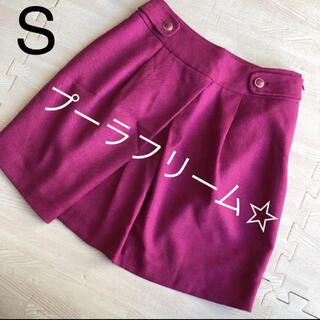 プーラフリーム(pour la frime)のpour la frime☆ベリー色スカート(ひざ丈スカート)
