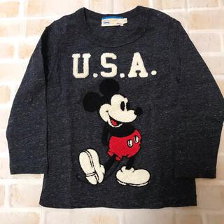 ディズニー(Disney)のだっふぃー様専用⭐︎新品未使用 ミッキーマウス 長袖シャツ 100 (Tシャツ/カットソー)