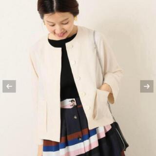 iena 春物ジャケット(ノーカラージャケット)