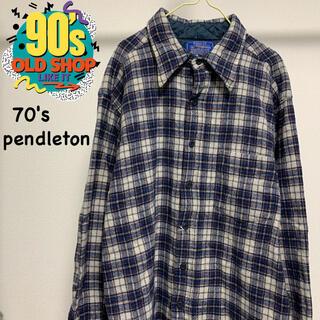 ペンドルトン(PENDLETON)の70s pendleton ヴィンテージ ウール チェックシャツ (シャツ)