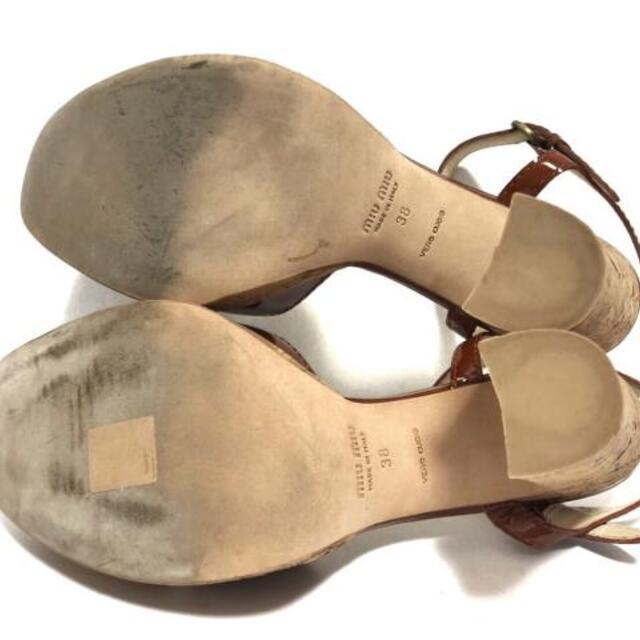miumiu(ミュウミュウ)のミュウミュウ サンダル 38 レディース美品  レディースの靴/シューズ(サンダル)の商品写真