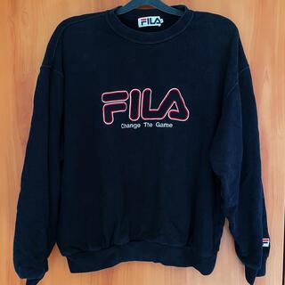 フィラ(FILA)のFILA メンズ トレーナー 黒(トレーナー/スウェット)