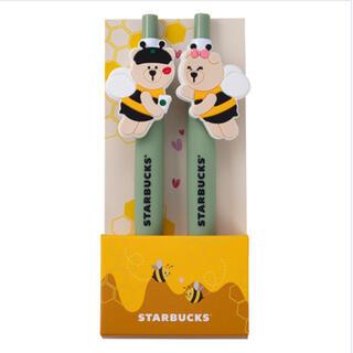 スターバックスコーヒー(Starbucks Coffee)の台湾 スターバックス  BEE MINE 21バレンタイン ベアリスタボールペン(ペン/マーカー)