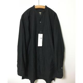 COMOLI - COMOLI バンドカラーシャツ チャコール サイズ2 紙タグ付属 フランネル