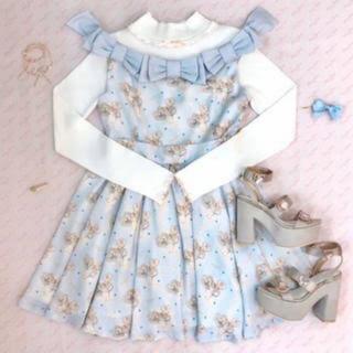 シロップ(syrup.)のRoseMarie seoir doll ribbon onepiece(ミニワンピース)