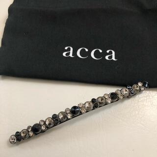 acca - acca ヘアアクセサリー バレッタ ベリーブラック 美品!
