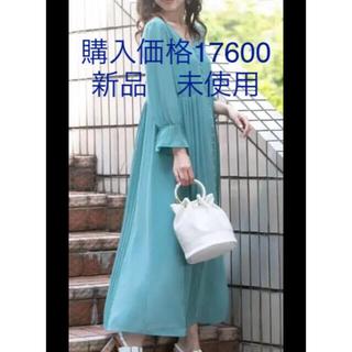QUEENS COURT - 新品 未使用 シフォン ワンピース 春 ミントグリーン ロング スカート