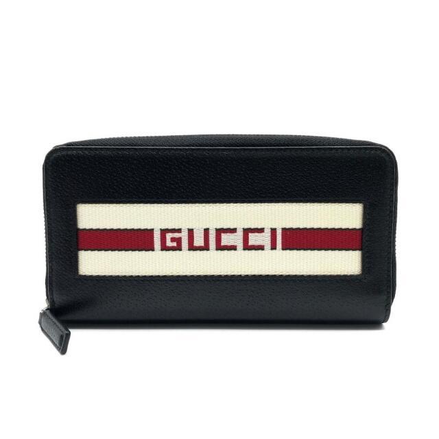 Gucci(グッチ)の新品同様 グッチ 459138 ラウンドファスナー財布 ロゴ ストライプ 長財布 メンズのファッション小物(長財布)の商品写真