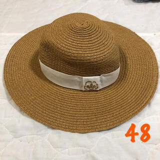 エフオーキッズ(F.O.KIDS)のアプレレクール 48cm   帽子 ハット 麦わら帽子(帽子)