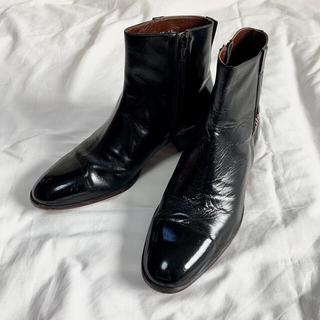 ヒールブーツ 90年代 ヴィンテージ 革靴 日本製 レア