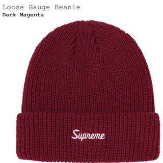 Supreme - 新品未開封【Dark Magenta】Loose Gauge Beanie