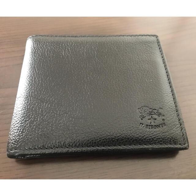 IL BISONTE(イルビゾンテ)の あきぞう様専用 IL BISONTE イルビゾンテ 二つ折り財布 黒 メンズのファッション小物(折り財布)の商品写真