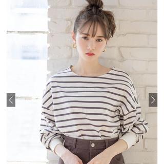 グレイル(GRL)のGRL ボーダーTシャツ(Tシャツ/カットソー(七分/長袖))