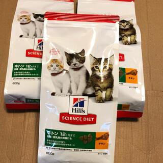 ヒルズスタイル(hills style)のヒルズ サイエンスダイエット 子猫用ドライフード キトン800g×3袋 チキン(ペットフード)