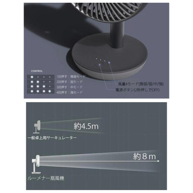Snow Peak(スノーピーク)の新品 LUMENA N9 FAN STAND 2 ブラック 新型 ルーメナー スマホ/家電/カメラの冷暖房/空調(扇風機)の商品写真