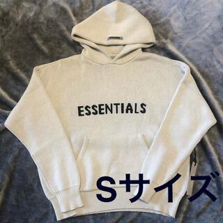 エッセンシャル(Essential)のSサイズ Essentials ニットロゴ フーディ オートミール(ニット/セーター)