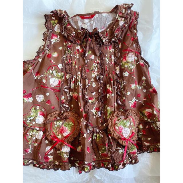 PINK HOUSE(ピンクハウス)のピンクハウス メリーストロベリーシリーズ ブラウスとスカートの2点セット レディースのスカート(ロングスカート)の商品写真
