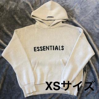 エッセンシャル(Essential)のXSサイズ Essentials ニットロゴ フーディ オートミール(パーカー)
