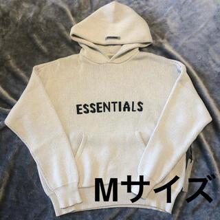 エッセンシャル(Essential)のMサイズ Essentials ニットロゴ フーディ オートミール(パーカー)