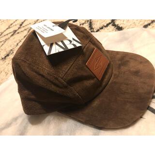 ザラ(ZARA)の新品未使用タグ付き 100% leather cap(キャップ)