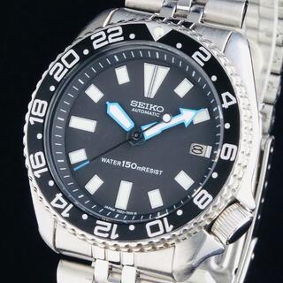 SEIKO - 【新品即納】セイコー カスタム メンズ腕時計 ダイバーズウォッチ 42mm 黒