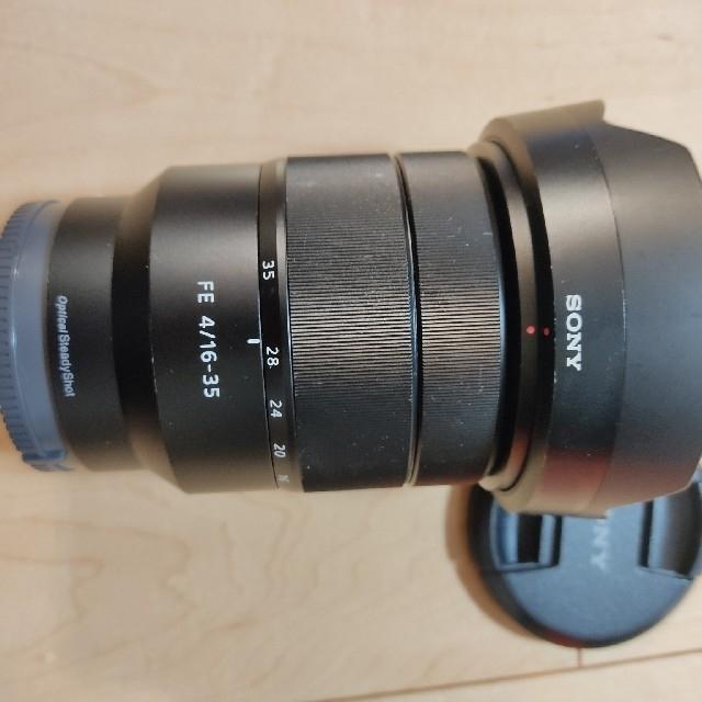 SONY(ソニー)のVario-Tessar T* FE 16-35mm F4 ZA フィルター付き スマホ/家電/カメラのカメラ(レンズ(ズーム))の商品写真
