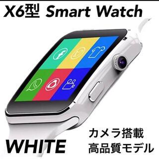 売れ筋!スマートウォッチ X6型★Apple系デザイン★カメラ内蔵 録音 音楽