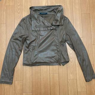 スパイラルガール(SPIRAL GIRL)のレザージャケット ライダースジャケット 茶色 ブラウン(テーラードジャケット)