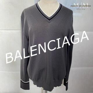 バレンシアガ(Balenciaga)の値下げ❤極美品 バレンシアガ BALENCIAGA ニット Vネック セーター(ニット/セーター)