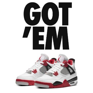 NIKE - NIKE AIR JORDAN 4 OG GS FIRE RED25cm