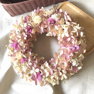 水無月紫陽花のリース       ドライフラワーリース(ドライフラワー)