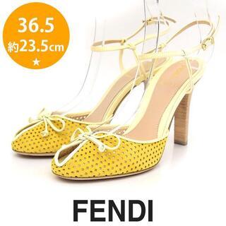 FENDI - 新品❤️フェンディ リボン パンチング ストラップ サンダル 36.5(23.5