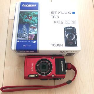 OLYMPUS - 防水カメラ オリンパス TG TG-3 RED 赤