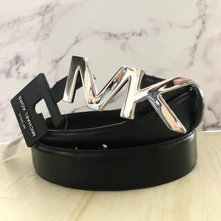 マイケルコース(Michael Kors)の新品ブランド マイケルコース MKロゴ レザーベルト 誕生日 人気 黒 バックル(ベルト)