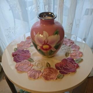 七宝焼🌹🌹花瓶🌹🌹胡蝶蘭🌹🌹ピンク