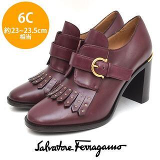 サルヴァトーレフェラガモ(Salvatore Ferragamo)の美品❤️フェラガモ フリンジ ガンチーニベルト ブーツ 6C(約23-23.5(ブーツ)