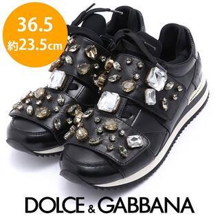DOLCE&GABBANA - ほぼ新品❤️ドルチェ&ガッバーナ ビジュ スニーカー 36.5(約23.5cm)