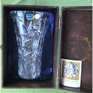 ボヘミア クリスタル(BOHEMIA Cristal)の【売約済み】花瓶 BOHEMIA CRYSTAL  チェコ製 ★未使用(花瓶)