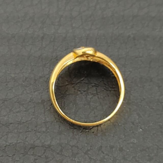 ☆K18リング③ ダイヤ 0.12ct 12号 レディースのアクセサリー(リング(指輪))の商品写真