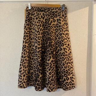 ディーホリック(dholic)のドノバン レオパードスカート S(ひざ丈スカート)