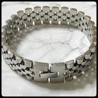 腕時計 ベルト風 シルバー ブレスレット メンズ シンプル 高品質 ステンレス(ブレスレット)