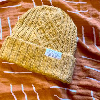 エフオーキッズ(F.O.KIDS)のケーブル編み ニット帽 マスタード(帽子)