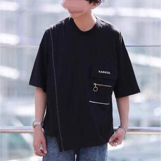 カンゴール(KANGOL)のにっしーデザイン KANGOLアシンメトリービッグTシャツ(Tシャツ/カットソー(半袖/袖なし))