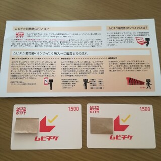 ムビチケ前売券GIFT 3000円分(1500円分×2枚)(その他)